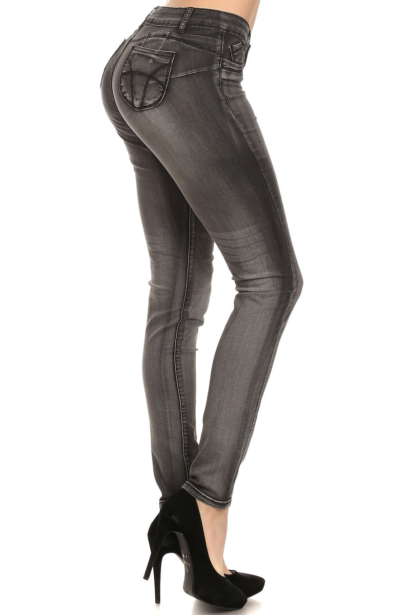 Butt Lift Stretch Skinny Jeans - orangeshine.com