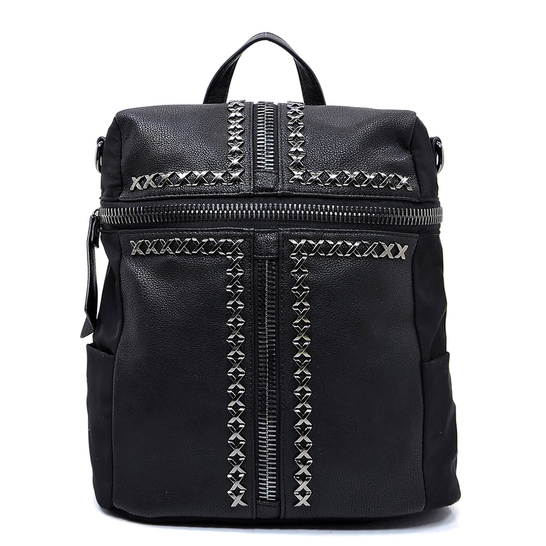 Fashion Zipper Convertible Backpack - orangeshine.com