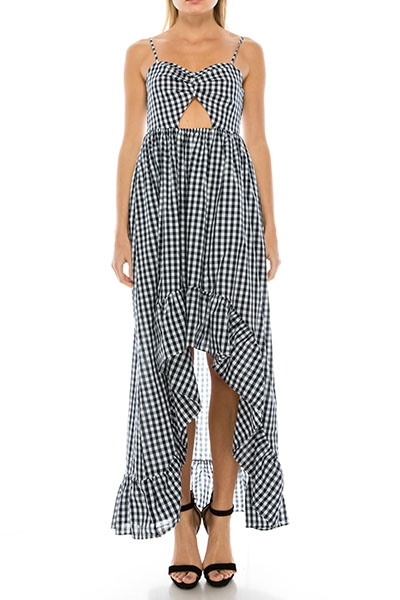 CASUAL CHECKER DRESS - orangeshine.com