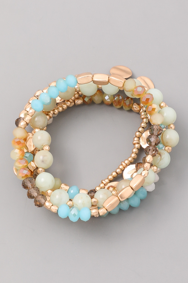New Beginnings Beaded Bracelet Set - orangeshine.com
