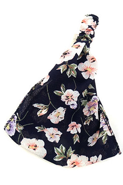 Flower Print Headwrap - orangeshine.com