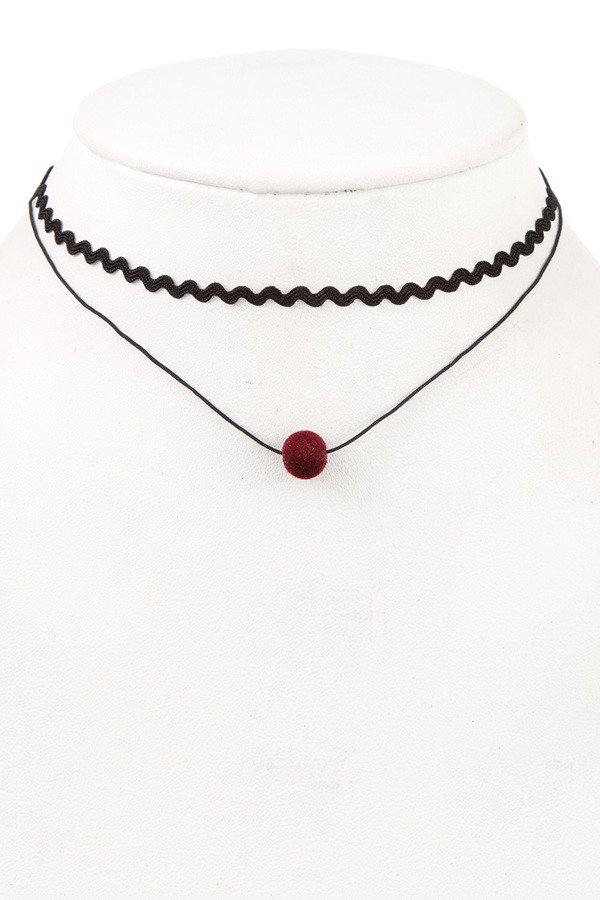 Ball Pendant Choker Necklace  - orangeshine.com
