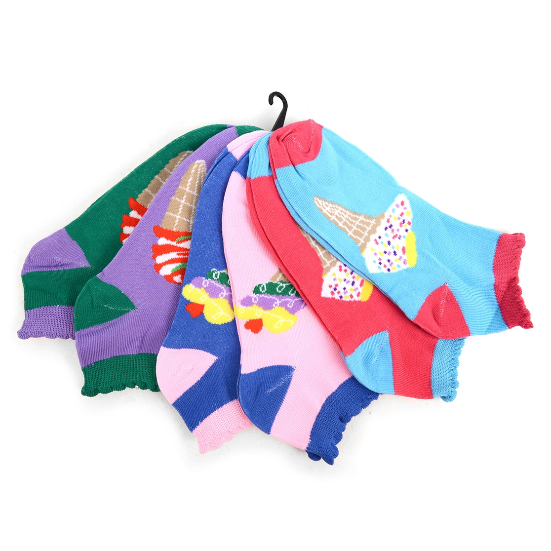 6 Pairs Women Ice Cream Low Cut Sock - orangeshine.com