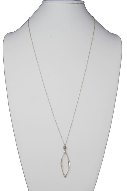 GEOMETRIC MARQUISE DROP NECKLACE  - orangeshine.com