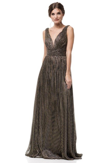 V Neck Evening Dress - orangeshine.com