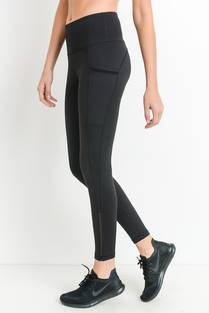 TRIPLE SLANTED MESH FULL LEGGINGS - orangeshine.com