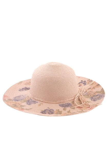FLOWER BILL MULTI STRAND SUN HAT  - orangeshine.com
