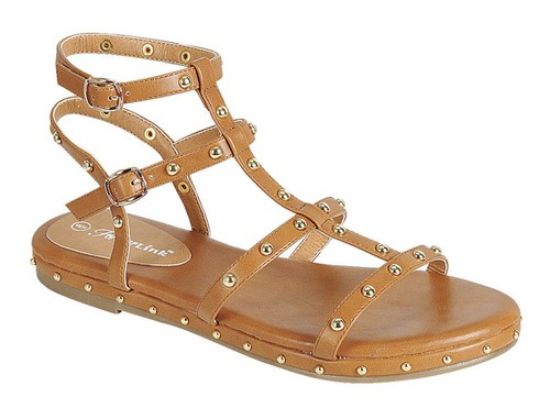 LOOP-02-FE Ankle Strap Sandals - orangeshine.com