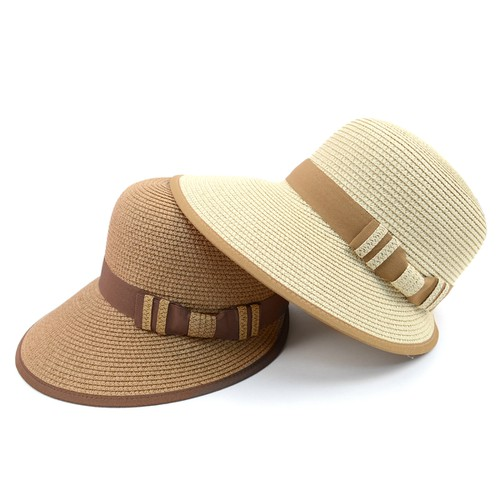 Women Ribbon Band Floppy Sun Hat - orangeshine.com