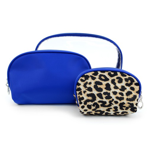 3pc Leopard Pattern Make up Case - orangeshine.com