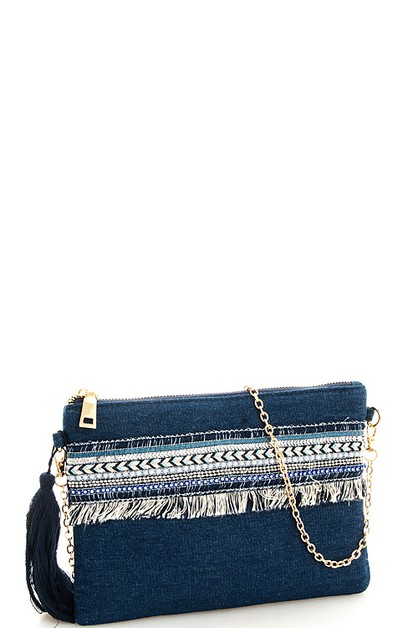 Fashion Denim Stylish Clutch - orangeshine.com