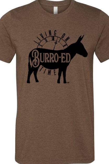 Living On Burro-ed Time Tee - orangeshine.com