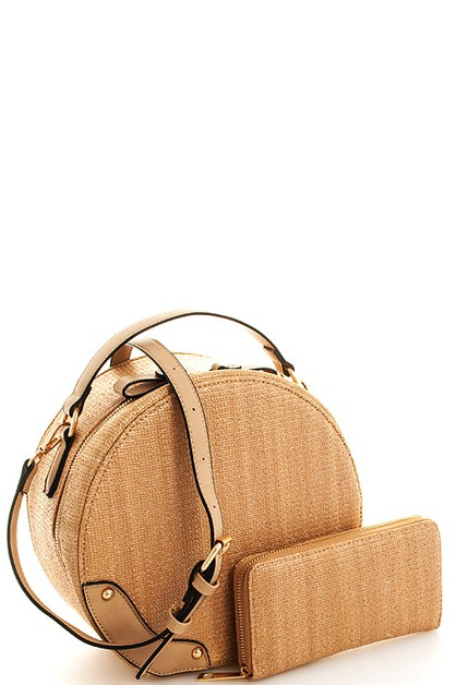 2in1 Chic Round Shape Satchel  - orangeshine.com