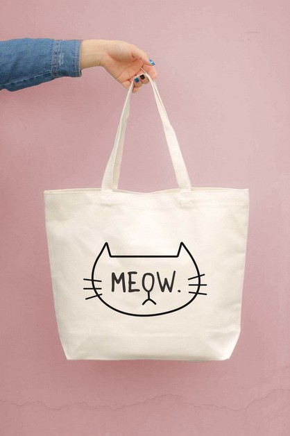 JCB009 Meow Canvas Bag - orangeshine.com