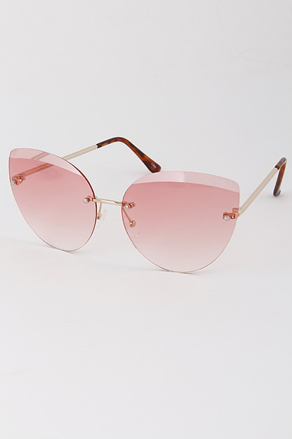 No Framed Tinted Fashion Sunglasses - orangeshine.com