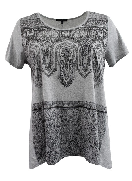 Lace Design Grey Tee - orangeshine.com