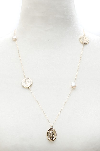 PEARL METAL NECKLACE - orangeshine.com