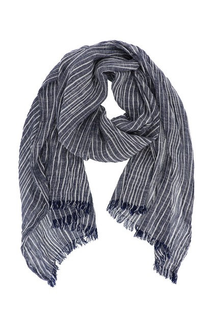 Striped Boho Oblong Scarf - orangeshine.com