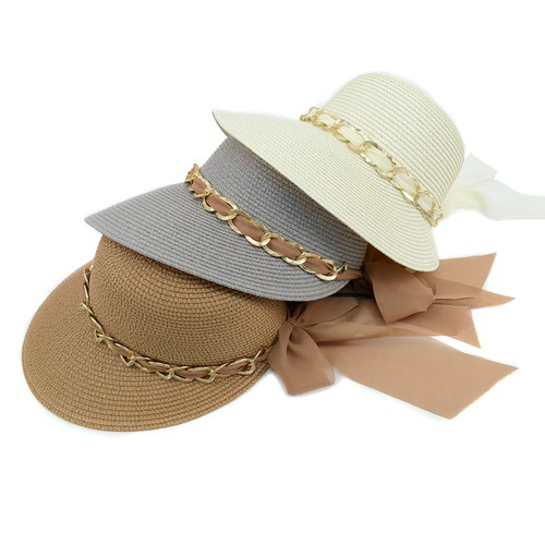 Women Chain Banded Floppy  Sun Hat - orangeshine.com