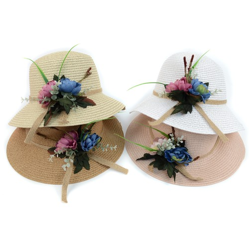 Women Flower Spring Floppy Hat - orangeshine.com