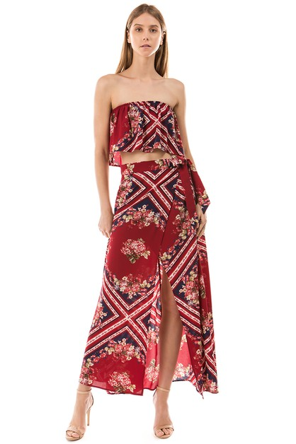 TWO PIECE MAXI DRESS - orangeshine.com
