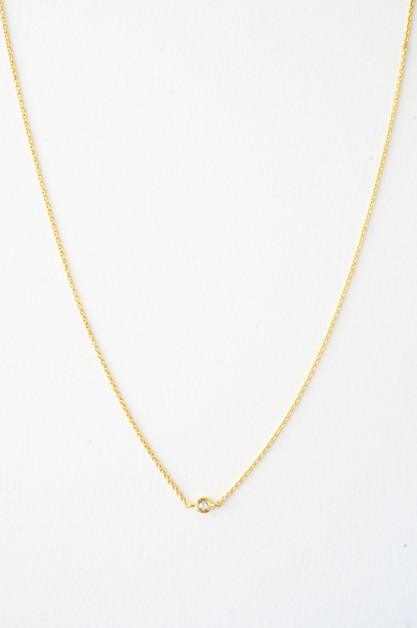 Solo Bezel Necklace  - orangeshine.com