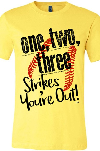 One Two Three Strikes Softball Tee - orangeshine.com
