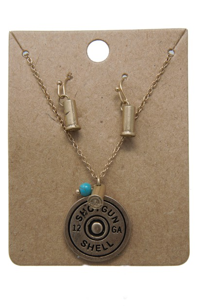 SHOTGUN SHELL NECKLACE SET  - orangeshine.com