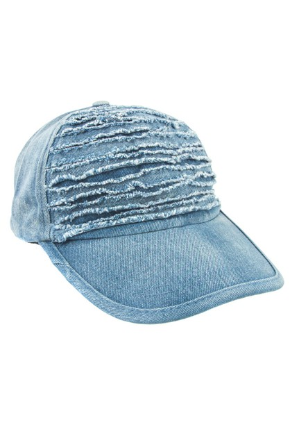 Distressed Denim Cap - orangeshine.com