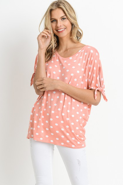 POLKA DOT RIBBON TIE SLEEVE - orangeshine.com