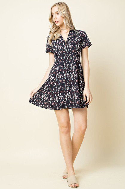 Ditsy Floral Day Dress - orangeshine.com