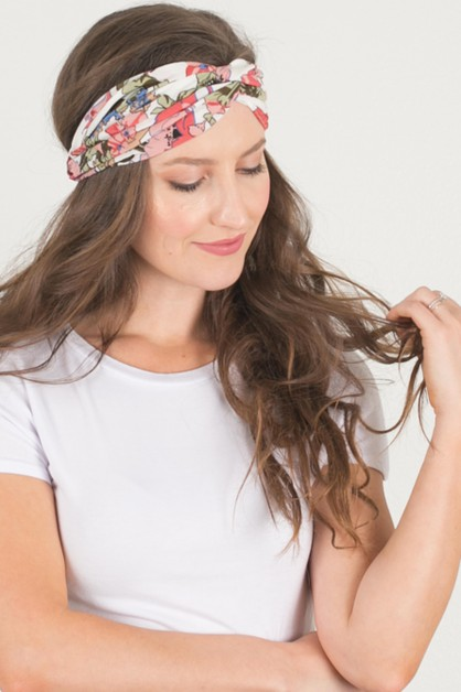 Floral Turban Headband - orangeshine.com