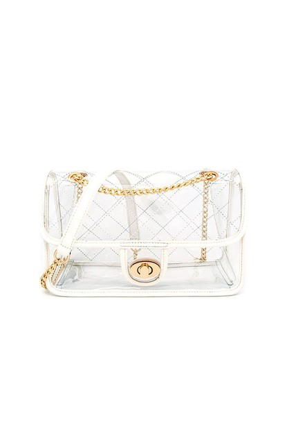 Classic Clear Shoulder Bag - orangeshine.com
