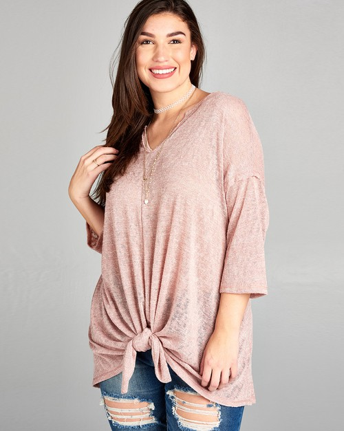 Oversized dolman top w vneck and tie - orangeshine.com