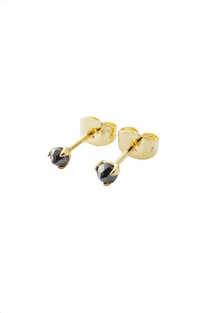 Iron Ore Point Solitaire Studs - orangeshine.com