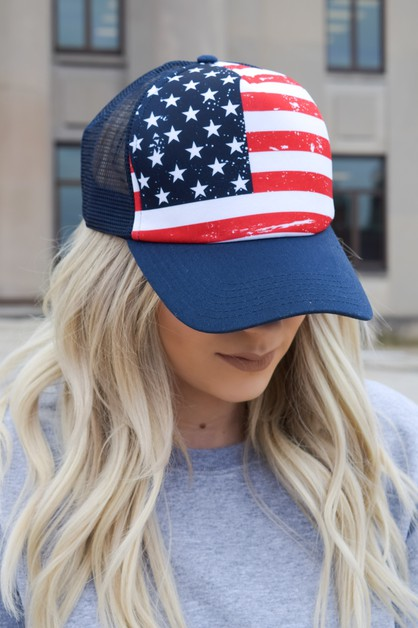 Flag Mesh Trucker Hat - orangeshine.com