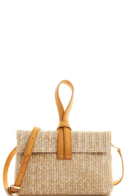 Street Level Woven Chic Crossbody Cl - orangeshine.com