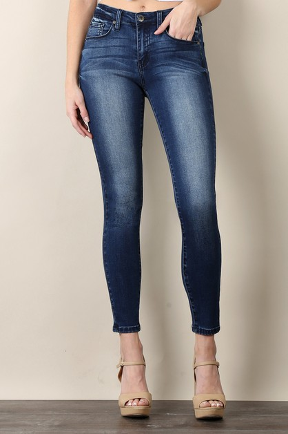 STRETCHED HIGH RISE SKINNY JEANS - orangeshine.com