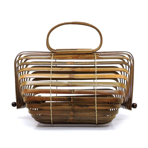 Bamboo Collapsible Top Handle Bag - orangeshine.com