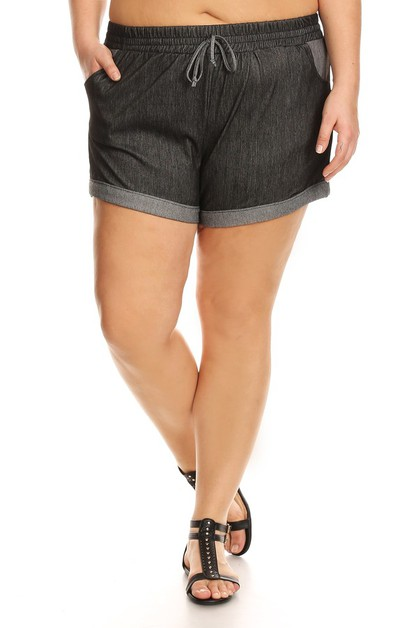 Plus Size Shorts Stretchy Denim Jean - orangeshine.com