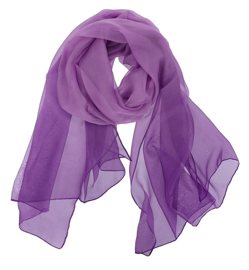 Sheer Color Oblong Scarf - orangeshine.com