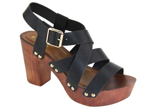 PROGRAM-10-DN Chunky Heel Sandals - orangeshine.com