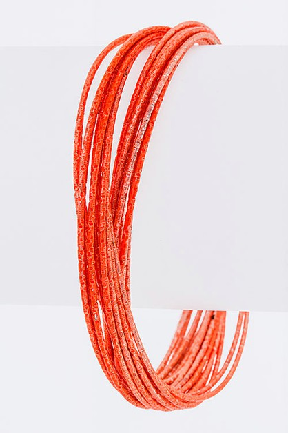 Metallic Bangle Set - orangeshine.com