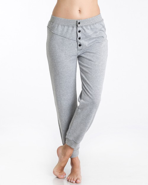 Button Front Sweatpants jogger - orangeshine.com