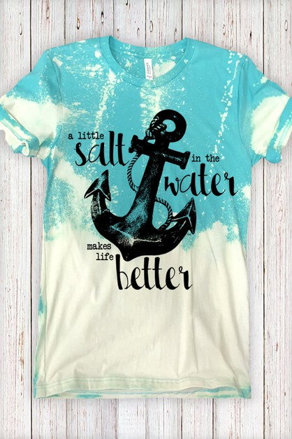 Salt In The Water Distressed Tee - orangeshine.com