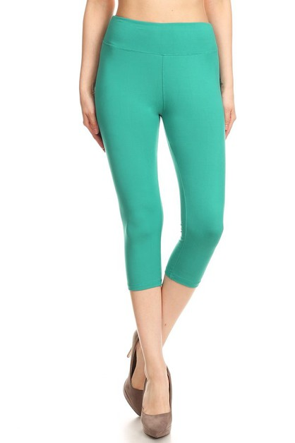 WIDE BAND SOFT CAPRI LEGGINGS - orangeshine.com