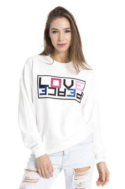 SPACEY LOVE PEACE SWEATSHIRT - orangeshine.com