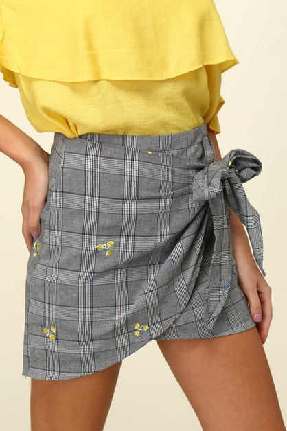 Asymmetrical wrap skirt - orangeshine.com