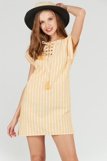 NAUTICAL STRIPED SHIFT DRESS - orangeshine.com