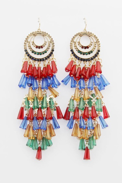 Beaded Cancan Earrings - orangeshine.com